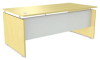 Straight Front Desk Shell, 66w x 30d x 29-1/2h, Maple -- ALESE216630MP
