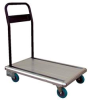 Platform Truck - Aluminum with Folding Handle: Rubber Casters -- AFT-36