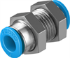 QSMS-6 Push-in bulkhead connector -- 153377