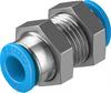 QSMS-6 Push-in bulkhead connector -- 153377