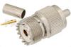 UHF Female Connector Crimp/Solder Attachment For RG55, RG141, RG142, RG223, RG400 -- PE44057 -Image