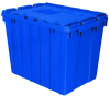 Akro-Mils Keepbox 17 gal 100 lb Blue Industrial Grade Polymer Attached Lid Container - 21 1/2 in Length - 15 in Width - 17 in Height - 39170 BLUE -- 39170 BLUE