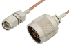 SMA Male to N Male Cable 60 Inch Length Using RG178 Coax, RoHS -- PE3321LF-60 -Image