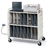 Notebook Storage Cart with 15 Electrical Outlets -- LAPTG15E-GM