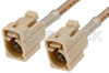 Beige FAKRA Jack to FAKRA Jack Cable 48 Inch Length Using RG316 Coax -- PE38754I-48 -Image