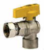 Angle Gas Ball Valve for Boiler with Sliding Nut F X F -- 527