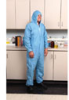 PyroGuardFR Coveralls, with hood and boots, elastic wrists, large, 25/cs -- GO-86234-66