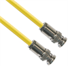 TRB Plug 3-Slot Male to TRB Plug 3-Slot Male 50 Ohm Triaxial cabling Yellow jacket Cable Assembly -- CA-3017-60 -Image