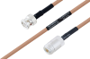 MIL-DTL-17 BNC Male to N Female Cable 18 Inch Length Using M17/128-RG400 Coax -- PE3M0059-18 -Image