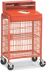 WIN-HOLT Mobile Shop Desk with Wire Mesh Cabinet -- 5313627