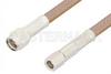 SMA Male to SMC Plug Cable 36 Inch Length Using RG400 Coax, RoHS -- PE34454LF-36 -Image