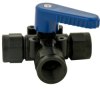 Polypropylene Three- Way Ball Valve 1/2