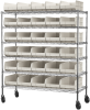 Shelving, Mobile Wire Shelving Kit, 0 Bins -- AWS2460M30358 - Image