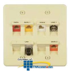 Allen Tel Double Gang 45 Degree Angled Faceplate -- AT45D-8