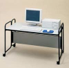 36 Inch Wide Single Shelf Computer Stand -- 8300