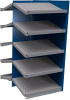 B-to-back closed shelving, sloped shelves (add-on unit for series) -- SRA2T-EE751001B - Image