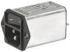 IEC Appliance Inlet C14 with Filter, Line Switch 1- or 2-pole, Front or Rear Side Mounting -- DC12 -Image