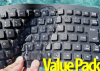 10 Pack - Washable Notebook-size Keyboards USB/PS2 -- VP10KBWKFC85