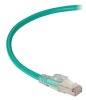 GigaTrue 3 CAT6A 650-MHz Ethernet Patch Cable - Shielded F/UTP, PVC, Slimline Lockable, Green, 10 ft. -- C6APC80S-GN-10 - Image