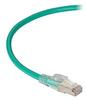 GigaTrue 3 CAT6A 650-MHz Ethernet Patch Cable - Shielded F/UTP, PVC, Slimline Lockable, Green, 3 ft. -- C6APC80S-GN-03