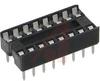 Socket, DIP;16Pins;Dual Leaf;Economy Ladder;0.3In.;Phosphor Bronze;Tin/Lead -- 70042906