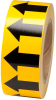 Brady B-946 Black on Yellow Directional Flow Arrow Tape - 2 in Width - 30 yd Length - 91420 -- 754476-91420 - Image
