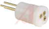 IC Socket; 3; Beryllium Copper; -55 degC; 125 degC; 0.016 in.; Brass; Teflon; -- 70207046 - Image