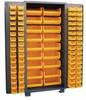 PLASTIC BIN WELDED CABINET - SOLID DOORS -- HDP260-BL
