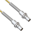 Teflon Jacket Cable Assembly TRB Non-Insulated Bulk Head 3-Lug Cable Jack to Jack with Bend Reliefs .236