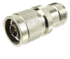 N Male (Plug) to SC Female (Jack) Adapter, Nickel Plated Brass Body, High Temp, 1.25 VSWR -- SM4653 - Image