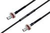 MIL-DTL-17 SMA Female Bulkhead to SMA Female Bulkhead Cable 6 Inch Length Using M17/119-RG174 Coax -- PE3M0110-6 -Image