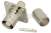 C Female Connector Crimp/Solder Attachment 4 Hole Flange For RG213, RG8, .718 inch Hole Spacing -- PE4968 -Image
