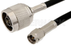 SMA Male to N Male Cable 12 Inch Length Using PE-C200 Coax -- PE36200-12 -Image