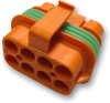 Eaton's Bussmann Series 32006-G22, 8 circuit, Power Distribution Connecter, Orange -- 75790 -Image