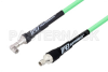 SMA Male to SMA Male Right Angle Low Loss Test Cable 36 Inch Length Using PE-P300LL Coax, RoHS -- PE3C1722-36 -Image