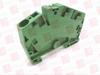 WEIDMULLER ZPE6-2/3AN ( TERMINAL BLOCK 6MM TENSION CLAM GREEN/YELLOW ) -Image