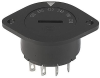 Voltage selector switch, 6 stages, serie-parallel, panel mounting -- SWZ1 (Frontpl) -Image