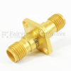 2.92mm Female (Jack) to 2.92mm Female (Jack) 4 Hole Flange Adapter, Gold Plated Stainless Steel Body -- SM3229 - Image