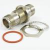 Hermetically Sealed SC Female (Jack) to SC Female (Jack) Bulkhead Adapter, Nickel Plated Brass Body, 1.35 VSWR -- SM3827 - Image