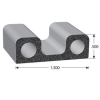 Double Bulb Lid EPDM Sponge Rubber Seal -- 402 Series