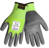 Global Glove Samurai PUG-517TS Lime/Gray XL Yarn/Fibers Cut-Resistant Gloves - ANSI A4 Cut Resistance - Polyurethane Palm & Fingers Coating - PUG-517TS XL -- PUG-517TS XL