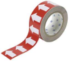 Arrow Tape,White/Brown,4 In. W -- 5GXF7