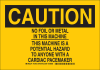 Brady B-302 Polyester Rectangle Black Machine & Equipment Sign - 10 in Width x 7 in Height - Laminated - 129182 -- 754473-78225