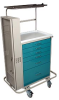Classic Tall Six Drawer Difficult Airway Cart with Key .. -- 6457 -- View Larger Image