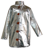 Chicago Protective Apparel Large Aluminized Carbon Fleece Welding & Heat-Resistant Coat - 45 in Length - 602-ACF LG -- 602-ACF LG - Image