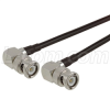 BNC Male Right Angle to BNC Male Right Angle , Pigtail 10 ft 195-Series -- CA-BMRBMRA010 - Image