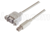 USB Type B Coupler, Female Bulkhead/Type B Male, 1M -- UPMBB-1M