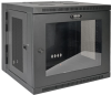 SmartRack 10U Low-Profile Switch-Depth Wall-Mount Rack Enclosure Cabinet with Clear Acrylic Window, Hinged Back -- SRW10USG -- View Larger Image