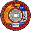 Norton Red Heat R961 CA Coarse Arbor Thread Plastic Flat Flap Disc -- 66254491941 - Image