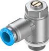One-way flow control valve